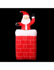 Jingle Jollys Inflatable Christmas 1.8M Santa Pop Up Chimney