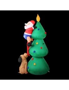 Jingle Jollys Inflatable Christmas Santa Tree Lights
