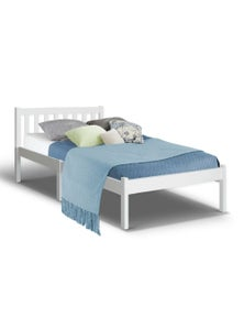 Artiss Single Size Wooden Bed Frame Pine Timber