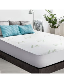 Giselle Bedding Waterproof Mattress Protector Bamboo Fibre Queen Fully Fitted Bed Pad Cover