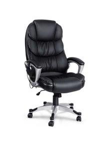 Artiss 8 Point Heated Massage Office Chair Vibration Executive Computer Black