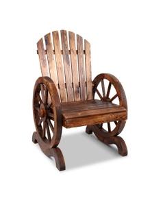 Gardeon Wagon Wheels Single Chair - Brown