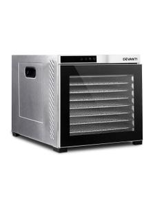 Devanti 10-Tray Commercial Food Dehydrator - Stainless Steel