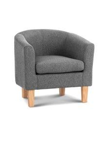 Artiss Armchair Lounge Chair Tub Accent Armchairs Fabric Sofa Chairs Grey