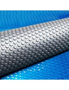 Aquabuddy 7M X 4M Solar Swimming Pool Cover 400 Micron Outdoor Bubble Blanket - Blue/Grey