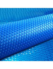 Aquabuddy 10M X 4M Solar Swimming Pool Cover 400 Micron Outdoor Bubble Blanket - Blue