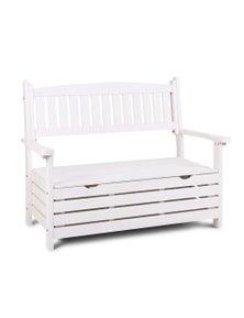 Gardeon Outdoor Storage Bench Box 2 Seat Patio Furniture Wooden Garden Lounge