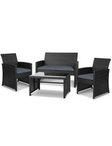 Gardeon Garden Furniture Outdoor Lounge Setting Wicker Sofa Set Patio Bistro