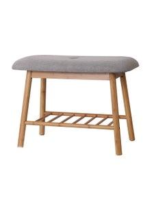 Artiss Shoe Rack Bench Storage Shelf Organisers Bamboo Grey Seat Chair