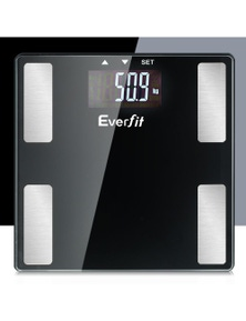 Everfit Digital Body Fat Weight Scale - Water Glass LCD