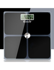 Everfit Digital Body Fat Weighing Scale - Glass LCD Electronic