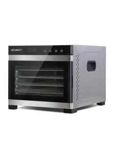 Devanti 6 Trays Commercial Food Dehydrator - Stainless Steel