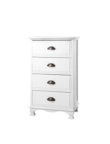 Artiss 4-drawer Bedside Storage Cabinet - White