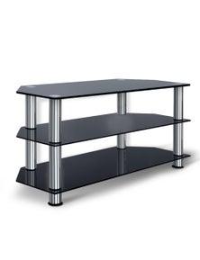 Artiss TV Media Stand Entertainment Unit 3 Tiers Shelf Glass Cabinet