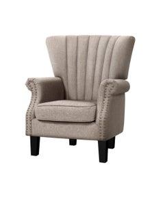 Artiss Armchair Lounge Chair Accent Chairs Armchairs Fabric Single Sofa Beige