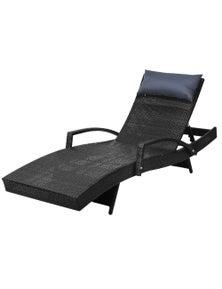 Gardeon Outdoor Sun Lounge Setting - Rattan Wicker