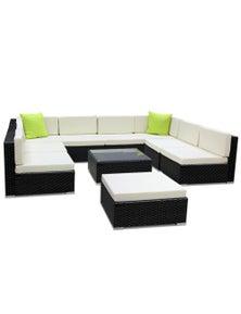 Gardeon 10 Piece Outdoor Furniture Set Wicker Sofa Lounge