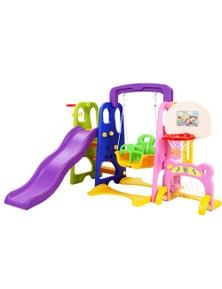 Keezi Kids Slide Swing W/ Basketball Hoop Toddler Outdoor Indoor Playground Play
