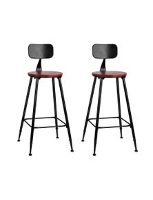 Artiss 2X Vintage Industrial Bar Stool Retro Barstools Dining Chairs Kitchen