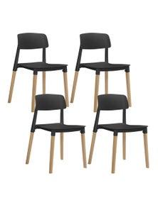Artiss Belloch Replica Dining Chairs Stackable Chair Wood Leg Kitchen Cafe X4