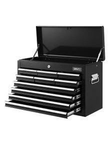 Giantz 10-Drawer Tool Box Chest Cabinet Garage Storage Toolbox - Black