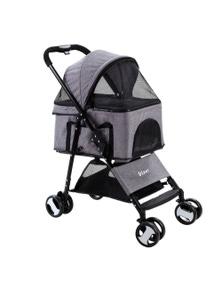 i.Pet Pet Stroller Foldable 3 IN 1 Grey
