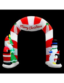 Jingle Jollys Inflatable Christmas 3M Archway with Santa