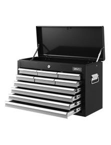 Giantz 10-Drawer Tool Box Chest - Black&Silver