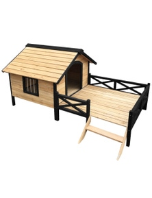 I.Pet Dog Outdoor Wooden Pet House Kennel - Extra Large