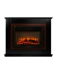 Devanti Electric Fireplace Mantel Fire Heater Black