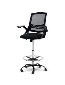 Artiss Office Chair Veer Drafting Stool Mesh Chairs Armrest Black Standing Desk