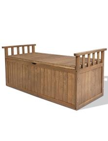 Gardeon Outdoor Storage Box Wooden Garden Bench 128.5Cm Chest Tool Toy Sheds Xl