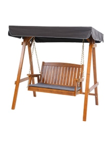 Gardeon Outdoor Swing Chair Wooden Garden Bench Hammock Canopy Furniture