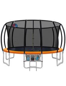 Everfit 16FT Trampoline With Basketball Hoop Kids - Orange