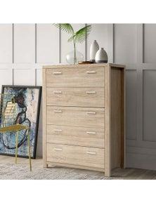 Artiss Maxi 5-drawer Tallboy Storage Cabinet