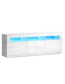 Artiss LED Entertainment Unit Stand 200cm White