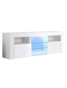 Artiss RGB LED TV Entertainment Unit 160cm - Gloss White