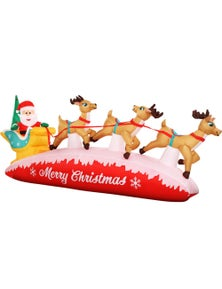 Jingle Jollys Inflatable Christmas 2.8M Santa On Sleigh