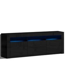 Artiss LED Entertainment Unit Stand 200cm Black