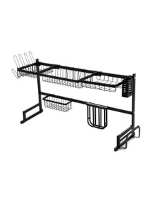 2-Tier 95cm Stainless Steel Kitchen Dish Drying Rack