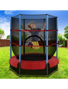 Instahut Everfit 4.5FT Round Enclosed Trampoline