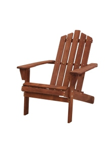 Gardeon Outdoor Wooden Adirondack Brown Chair