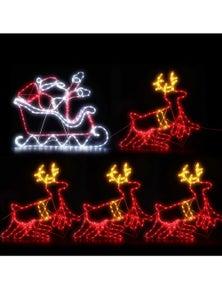 Jingle Jollys Christmas Motif Lights LED Rope Reindeer Waterproof Colourful Xmas