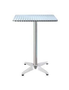 Gardeon Stainless Steel Square Bar Table