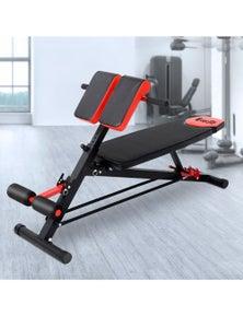 Everfit Adjustable Exercise Bench - Black/Red