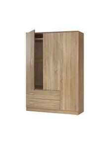 Artiss Wardrobe - 3 Doors Storage Cabinet Armoire