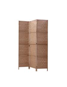 Artiss 3 Panel Room Divider Privacy Screen - Rattan Natural