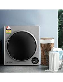 Devanti 5Kg Vented Clothes Dryer Tumble Dryers - Silver