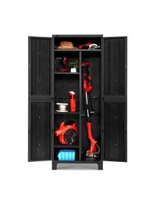 Gardeon Outdoor Storage Cabinet Lockable Tall Garden Shed - Black 173CM