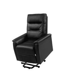 Artiss Lift Recliner Chair - Black Leather